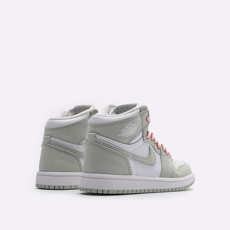 детские серые, белые  кроссовки jordan 1 high og (ps) CU0449-002 - цена, описание, фото 3