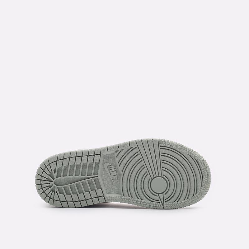 детские серые, белые  кроссовки jordan 1 high og (ps) CU0449-002 - цена, описание, фото 5