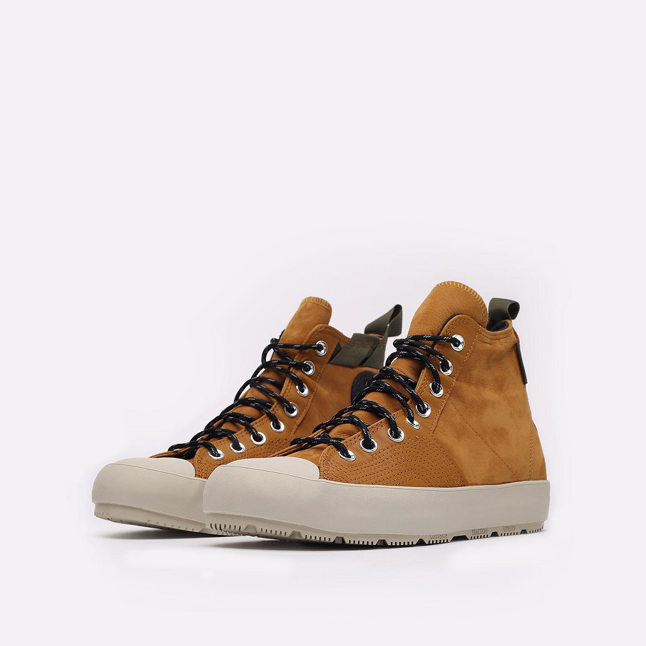 мужские коричневые  кеды converse chuck 70 explore wp hi 171438 - цена, описание, фото 4