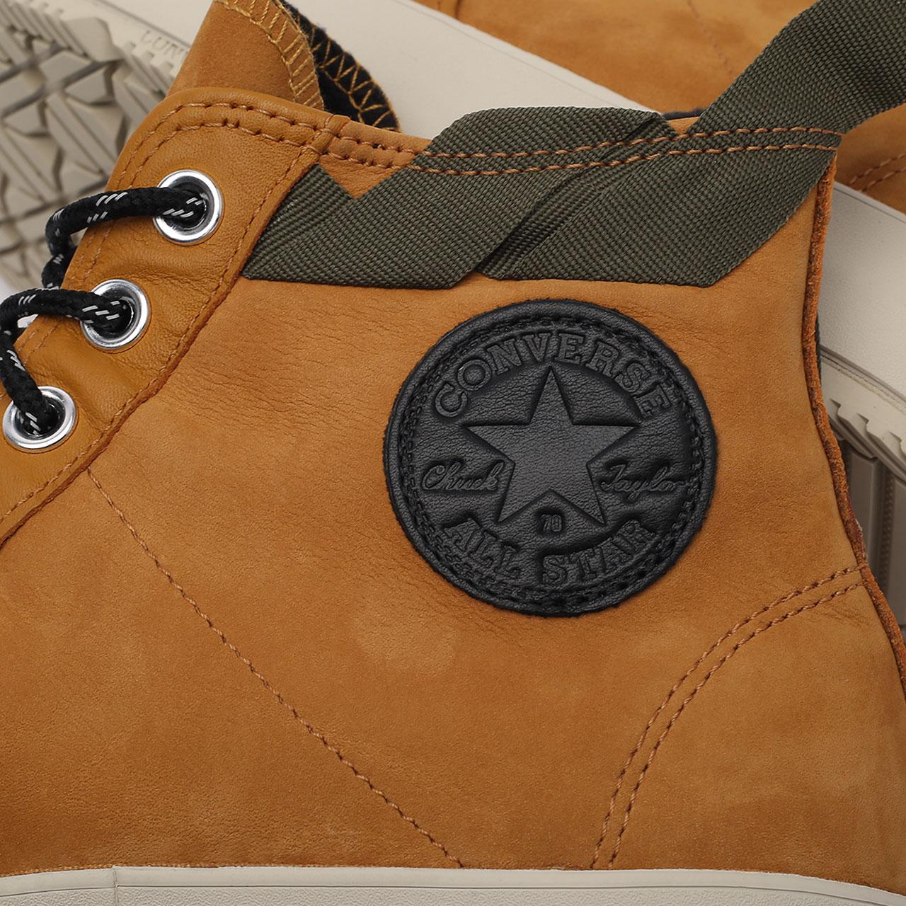 мужские коричневые  кеды converse chuck 70 explore wp hi 171438 - цена, описание, фото 6