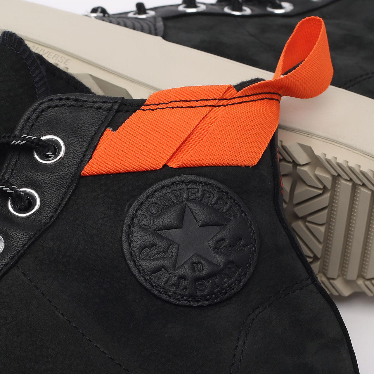 мужские чёрные  кеды converse chuck 70 explore wp hi 171439 - цена, описание, фото 6
