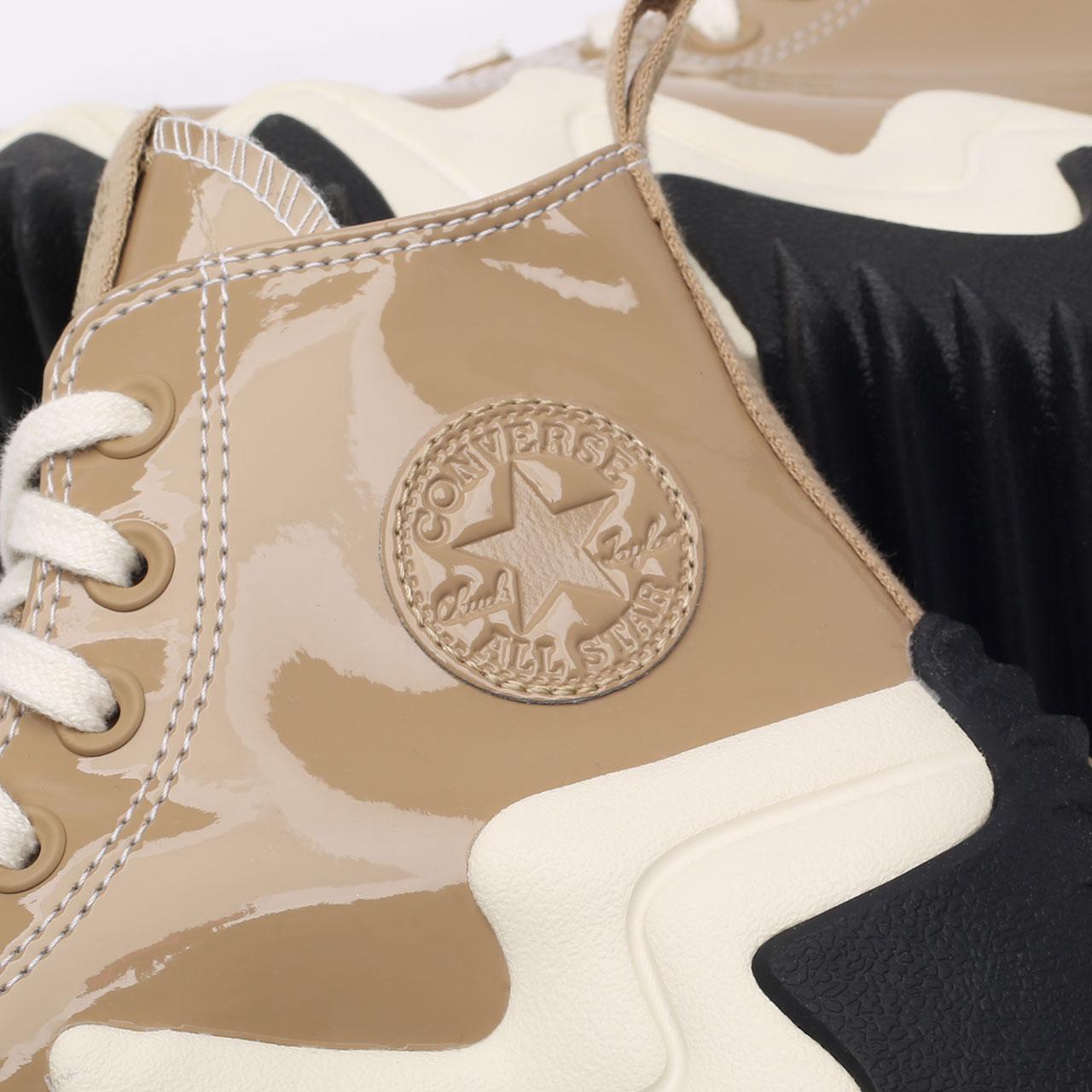 бежевые  кеды converse run star motion hi 171423 - цена, описание, фото 5