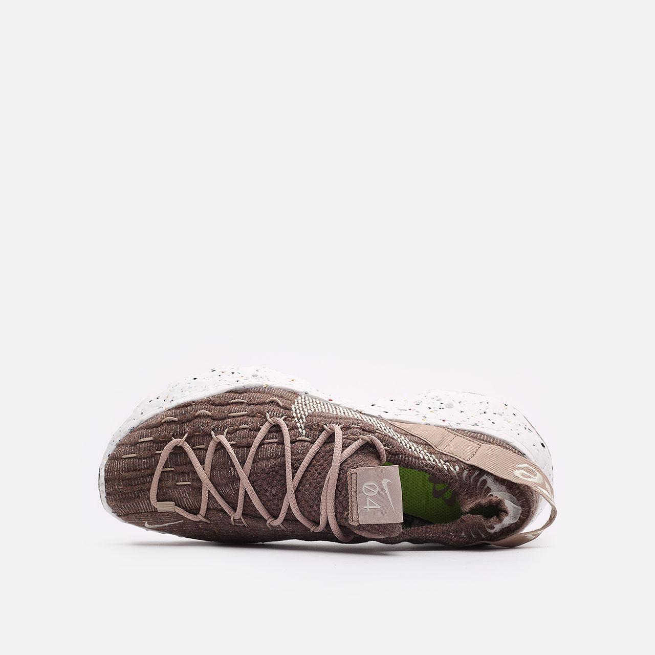женские коричневые  кроссовки nike wmns space hippie 04 CD3476-200 - цена, описание, фото 6