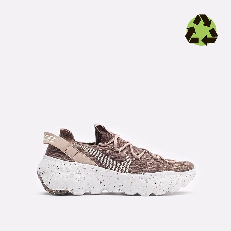 женские коричневые  кроссовки nike wmns space hippie 04 CD3476-200 - цена, описание, фото 1