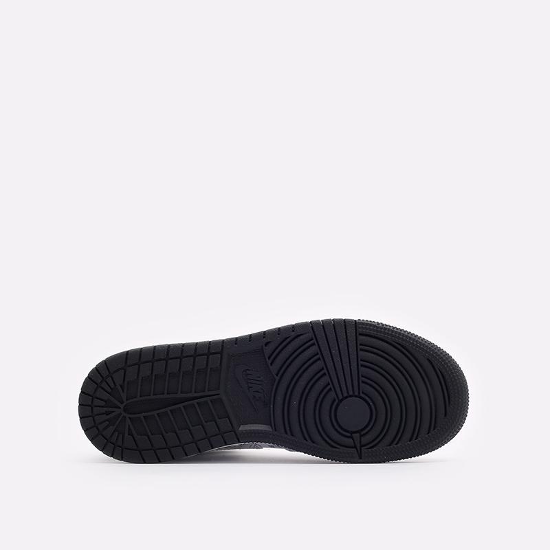 женские белые, чёрные  кроссовки jordan 1 mid se (gs) DC4099-100 - цена, описание, фото 5