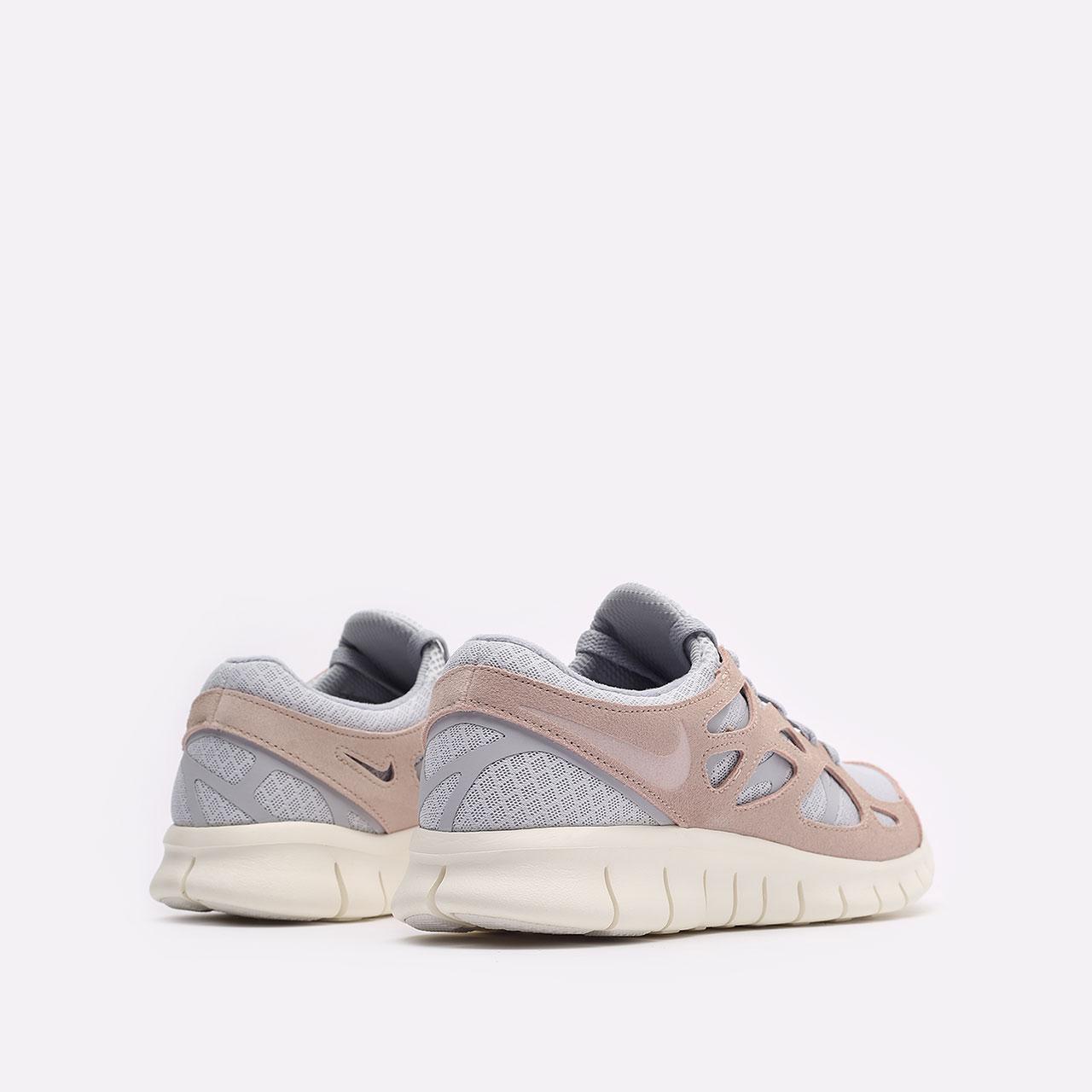 мужские бежевые  кроссовки nike free run 2 537732-013 - цена, описание, фото 3