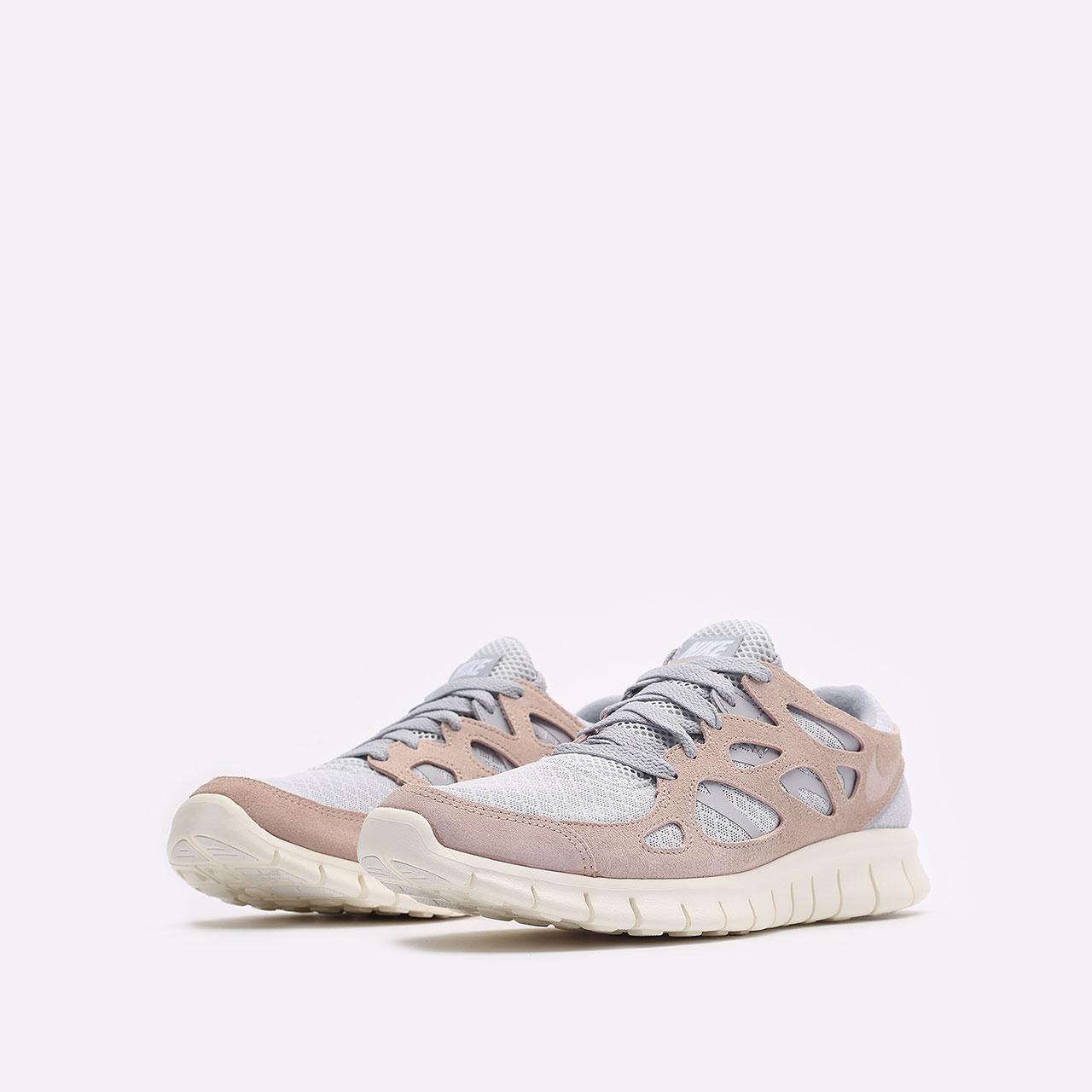 мужские бежевые  кроссовки nike free run 2 537732-013 - цена, описание, фото 4