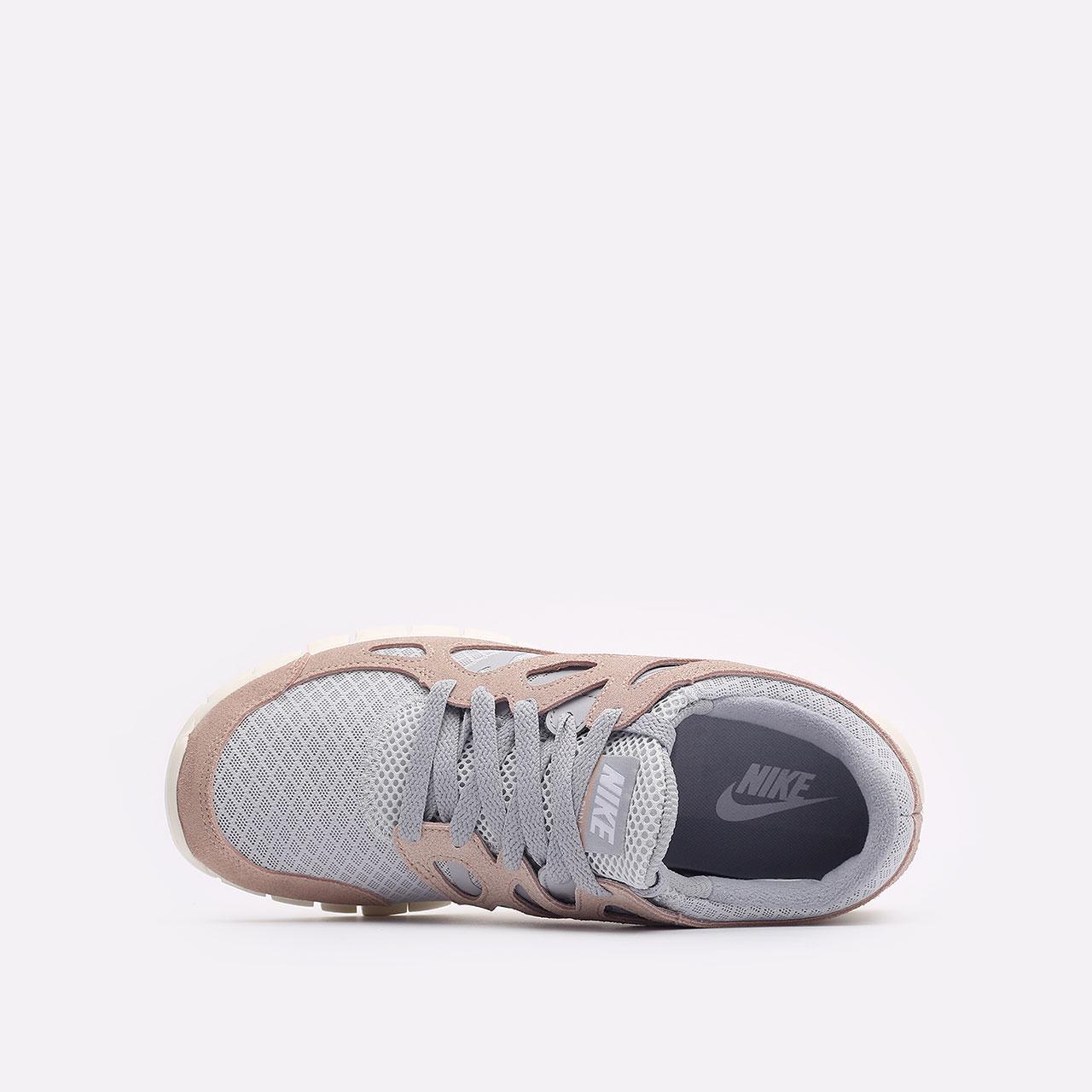 мужские бежевые  кроссовки nike free run 2 537732-013 - цена, описание, фото 6