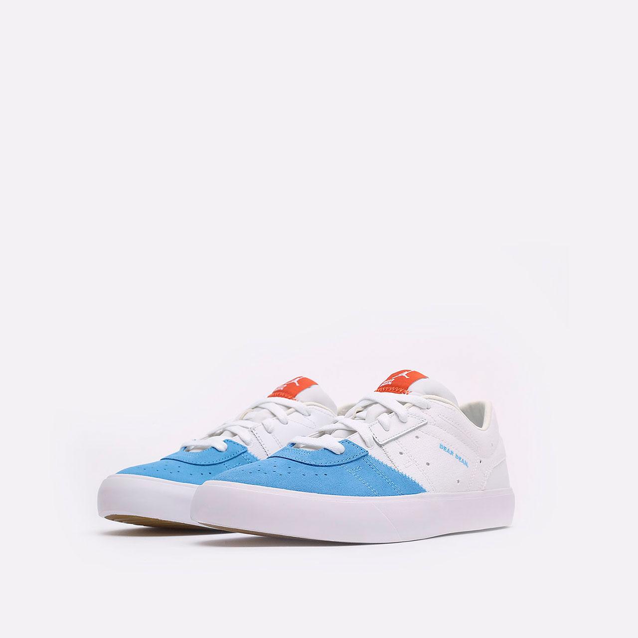 мужские голубые, белые  кроссовки jordan series.02 DJ0417-100 - цена, описание, фото 4