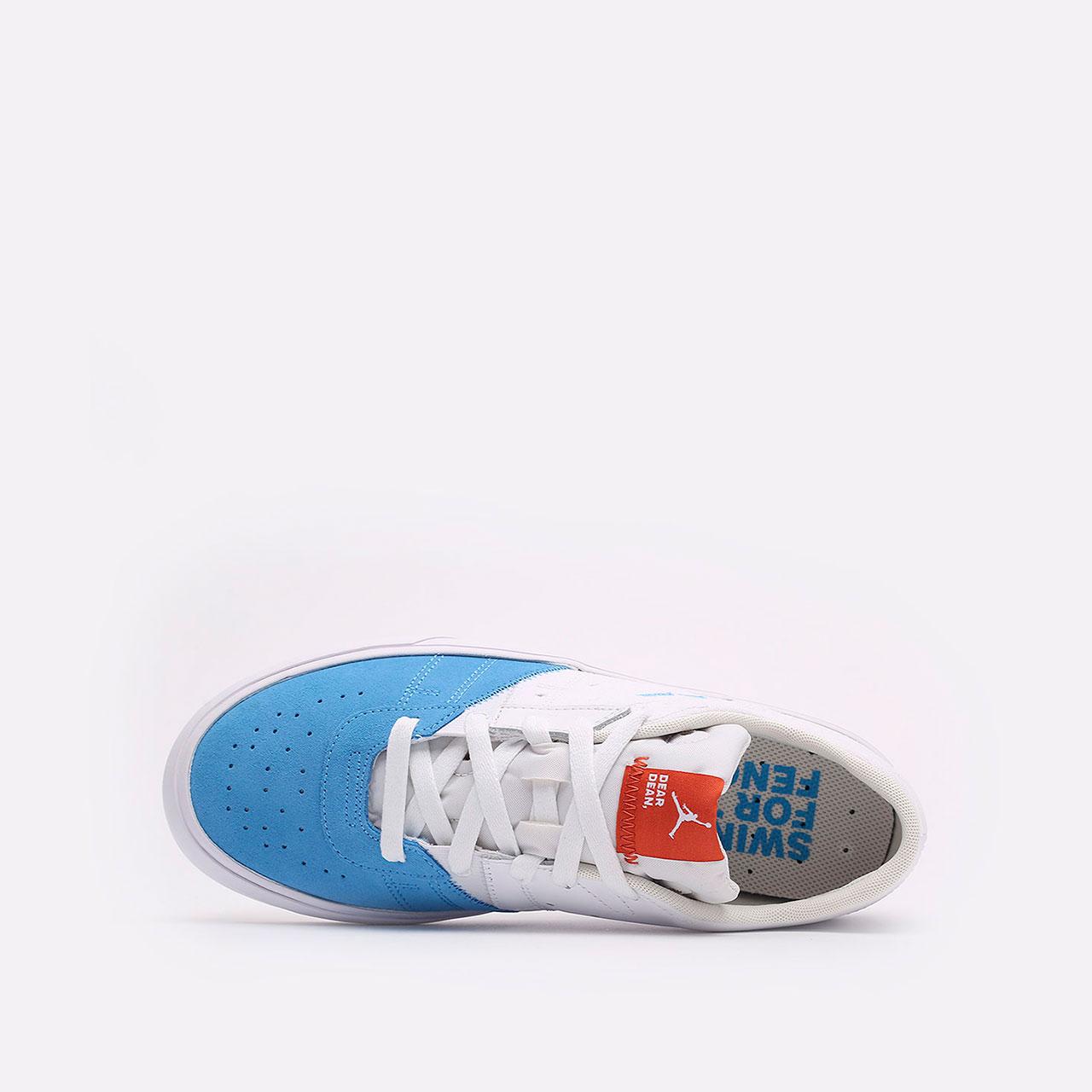 мужские голубые, белые  кроссовки jordan series.02 DJ0417-100 - цена, описание, фото 6