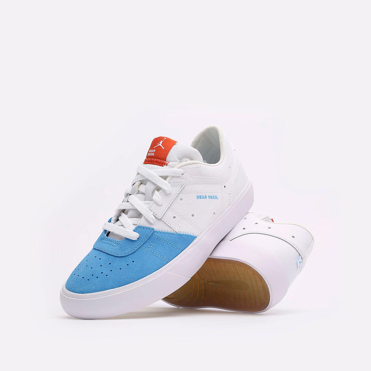 мужские голубые, белые  кроссовки jordan series.02 DJ0417-100 - цена, описание, фото 2
