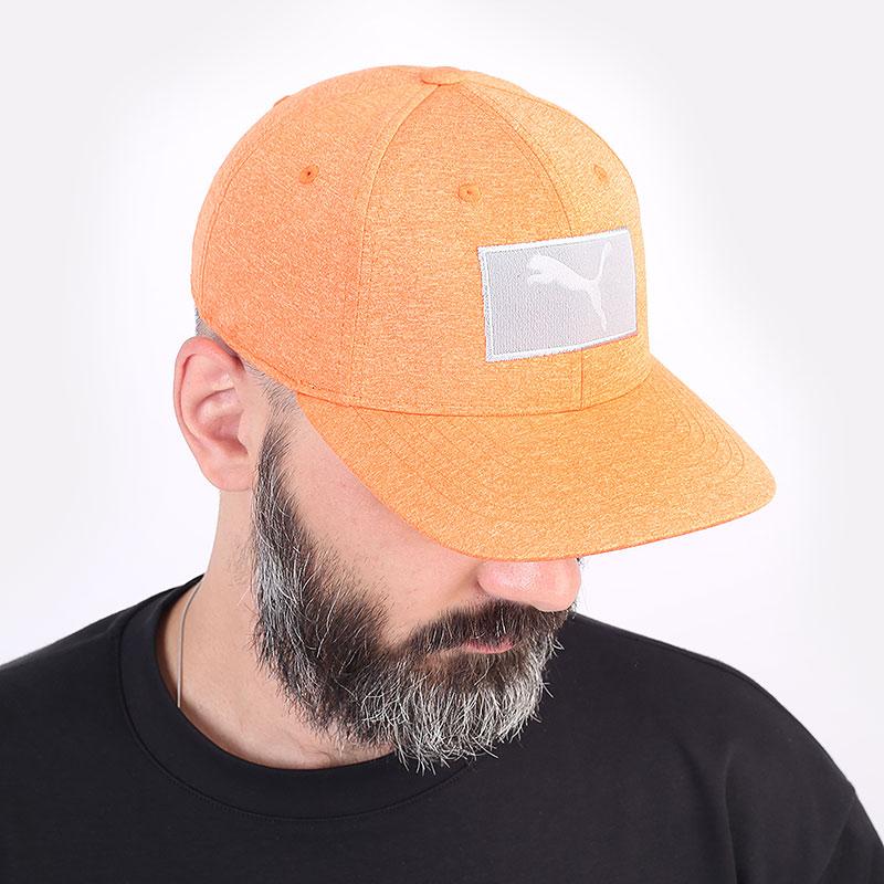 мужскую оранжевую  кепка puma youth utility patch cap 02199804 - цена, описание, фото 1