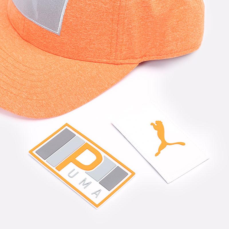 мужскую оранжевую  кепка puma youth utility patch cap 02199804 - цена, описание, фото 5