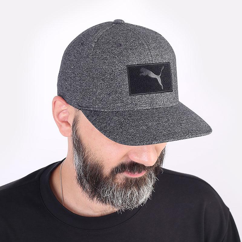 мужская серая кепка PUMA Custom Patch 110 Cap 02218401 - цена, описание, фото 1