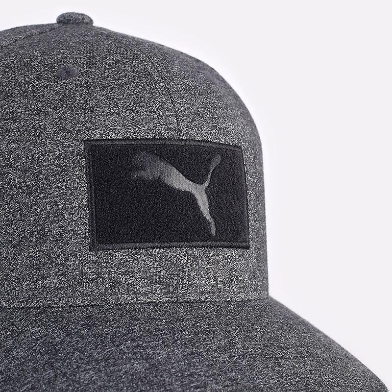 мужская серая кепка PUMA Custom Patch 110 Cap 02218401 - цена, описание, фото 2