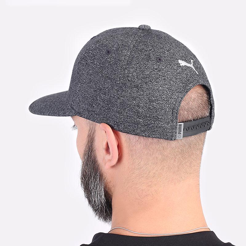 мужская серая кепка PUMA Custom Patch 110 Cap 02218401 - цена, описание, фото 3