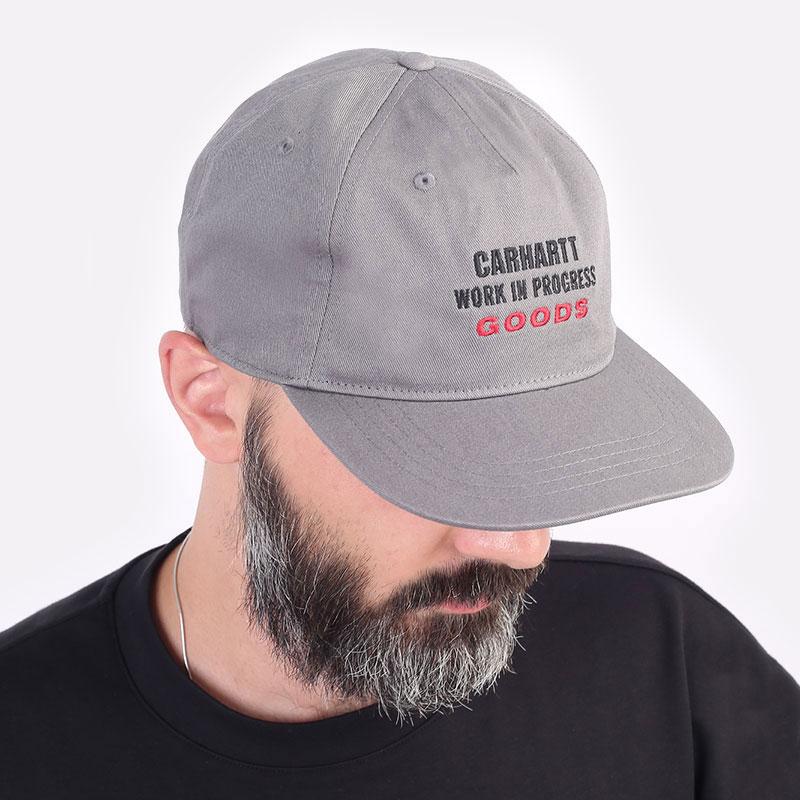 серая кепка Carhartt WIP Goods Cap I029558-thyme - цена, описание, фото 1