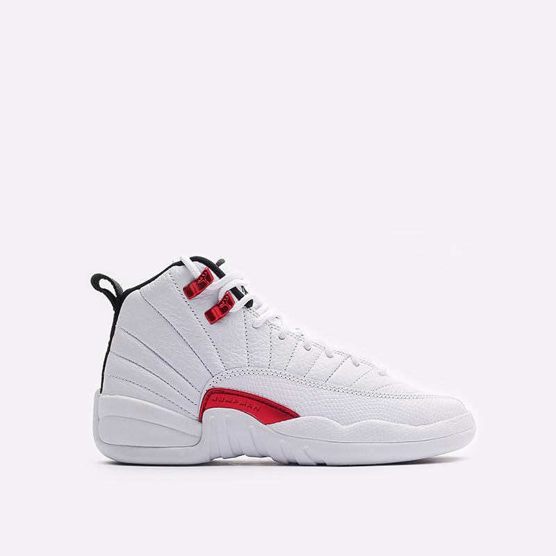 женские белые  кроссовки jordan 12 retro (gs) 153265-106 - цена, описание, фото 1
