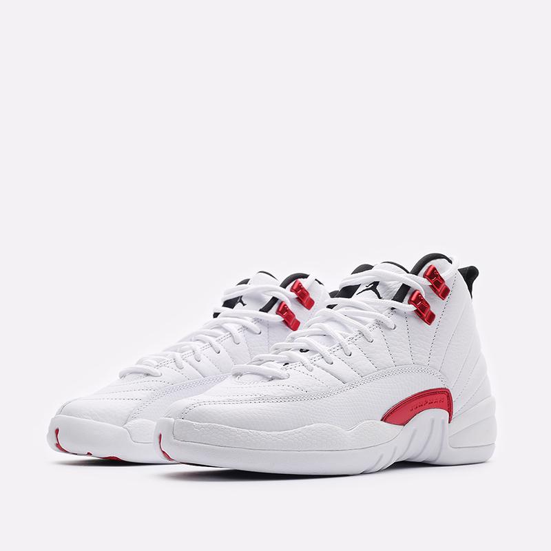 женские белые  кроссовки jordan 12 retro (gs) 153265-106 - цена, описание, фото 4