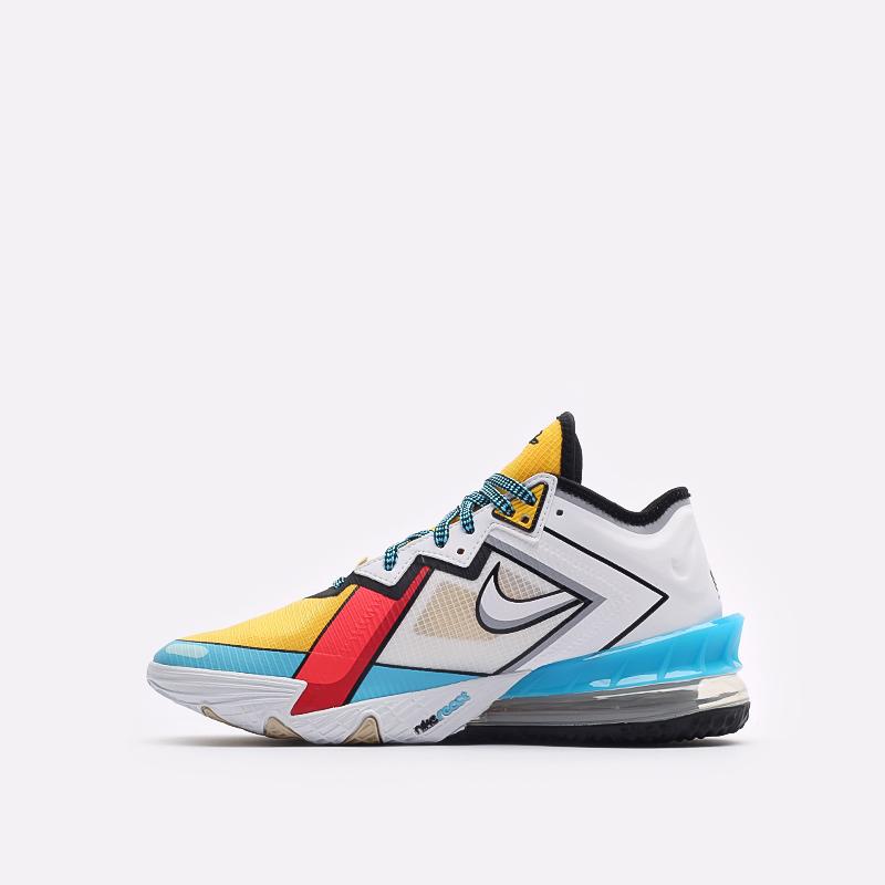 мужские разноцветные  кроссовки nike lebron xviii low CV7562-104 - цена, описание, фото 2
