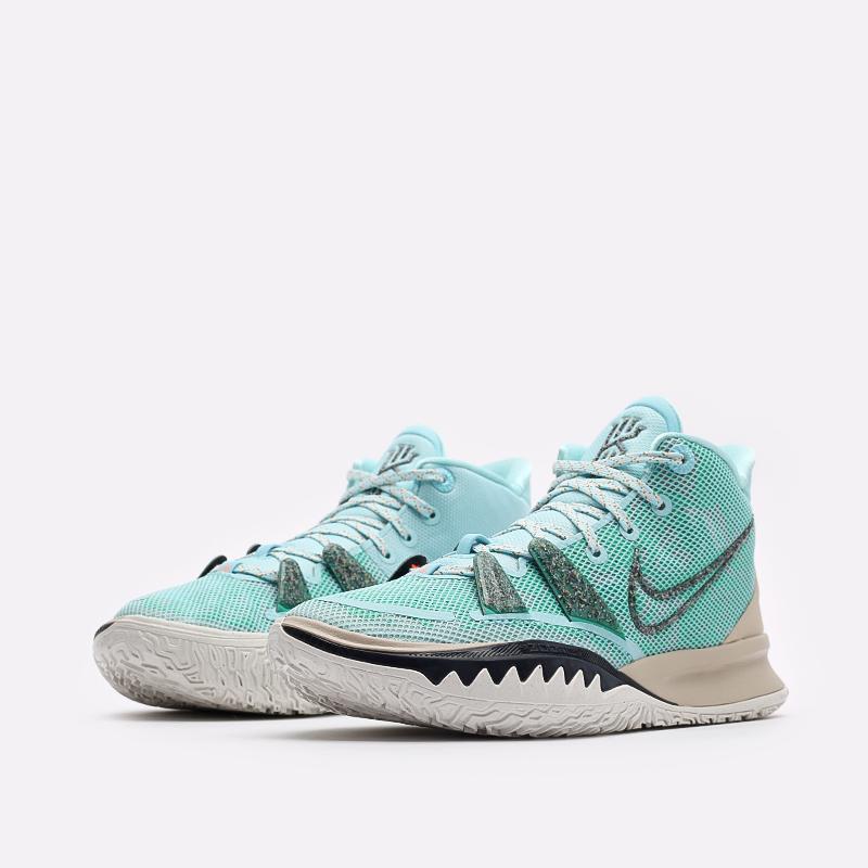 голубые баскетбольные кроссовки Nike Kyrie 7 CQ9326-402 - цена, описание, фото 4