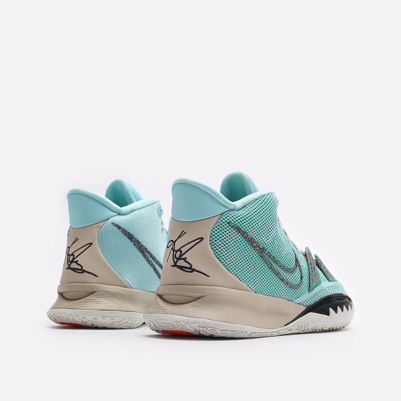 голубые баскетбольные кроссовки Nike Kyrie 7 CQ9326-402 - цена, описание, фото 3
