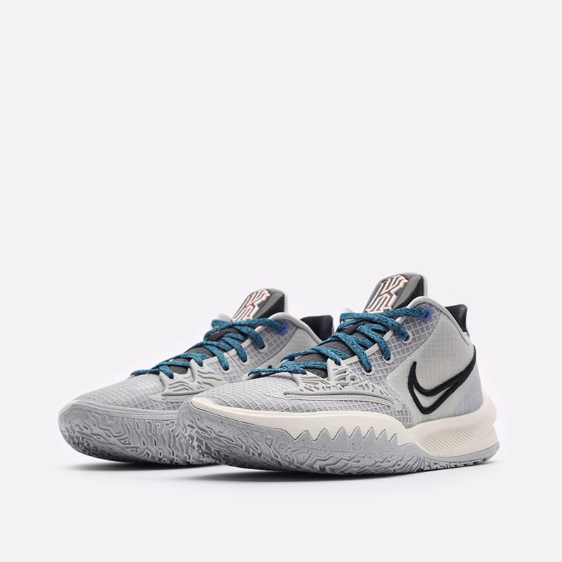 мужские серые баскетбольные кроссовки Nike Kyrie Low 4 CW3985-004 - цена, описание, фото 4