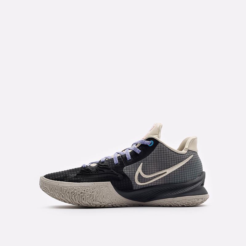 мужские бежевые, серые, чёрные  кроссовки nike kyrie low 4 CW3985-003 - цена, описание, фото 2