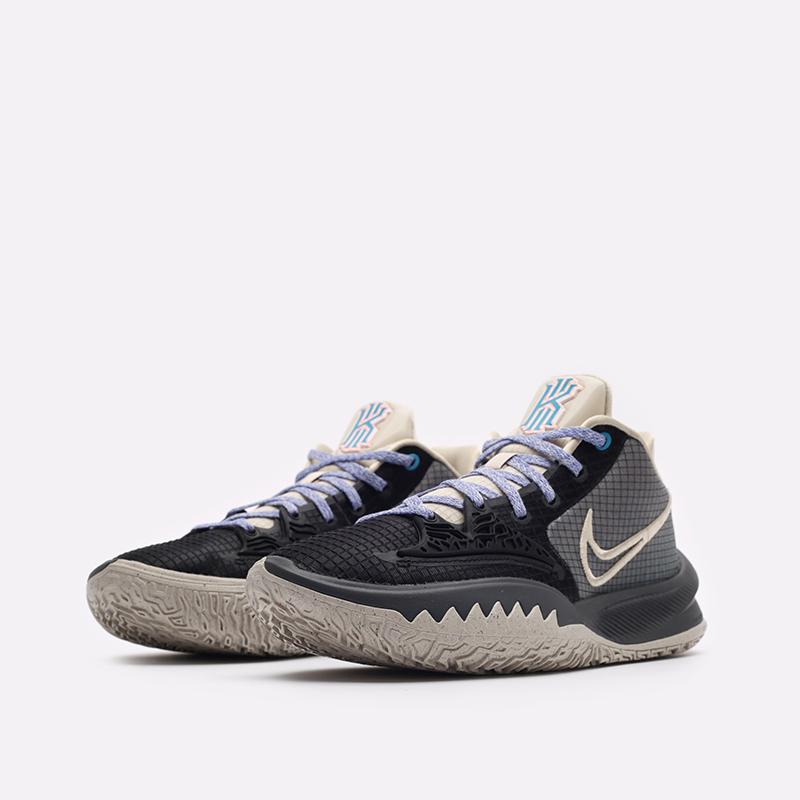 мужские бежевые, серые, чёрные  кроссовки nike kyrie low 4 CW3985-003 - цена, описание, фото 4