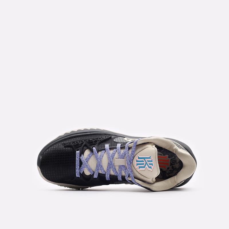 мужские бежевые, серые, чёрные  кроссовки nike kyrie low 4 CW3985-003 - цена, описание, фото 6
