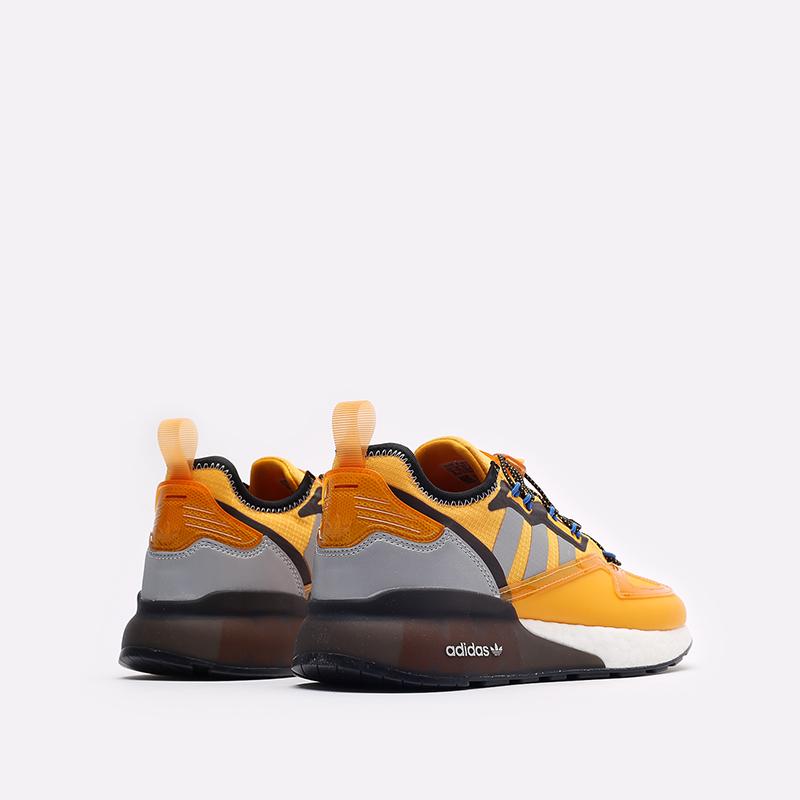 желтые кроссовки adidas ZX 2K Boost GY1207 - цена, описание, фото 3