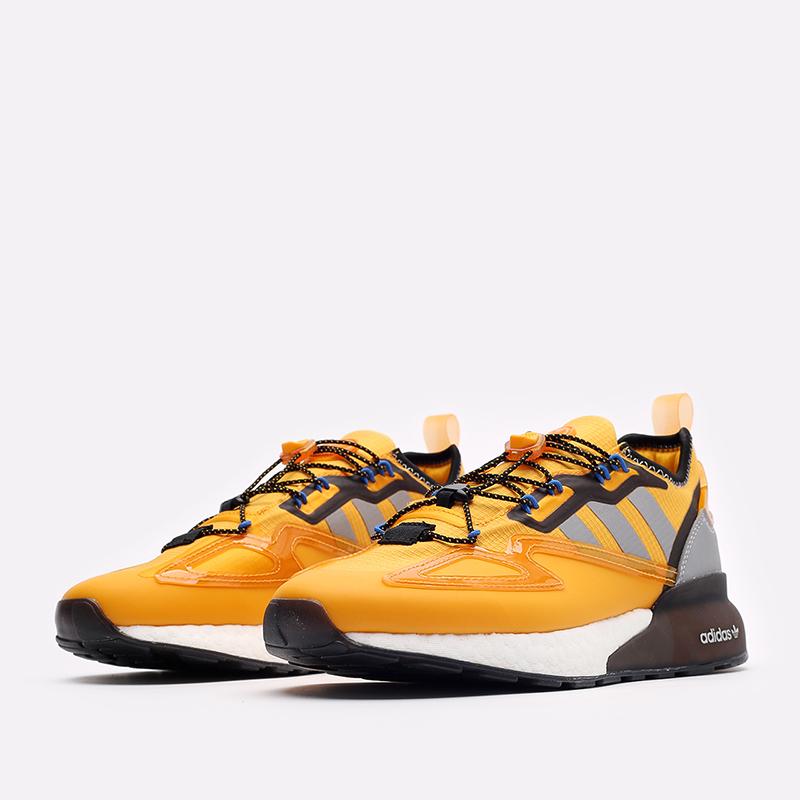 желтые кроссовки adidas ZX 2K Boost GY1207 - цена, описание, фото 4