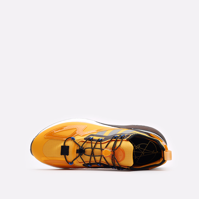 желтые кроссовки adidas ZX 2K Boost GY1207 - цена, описание, фото 6