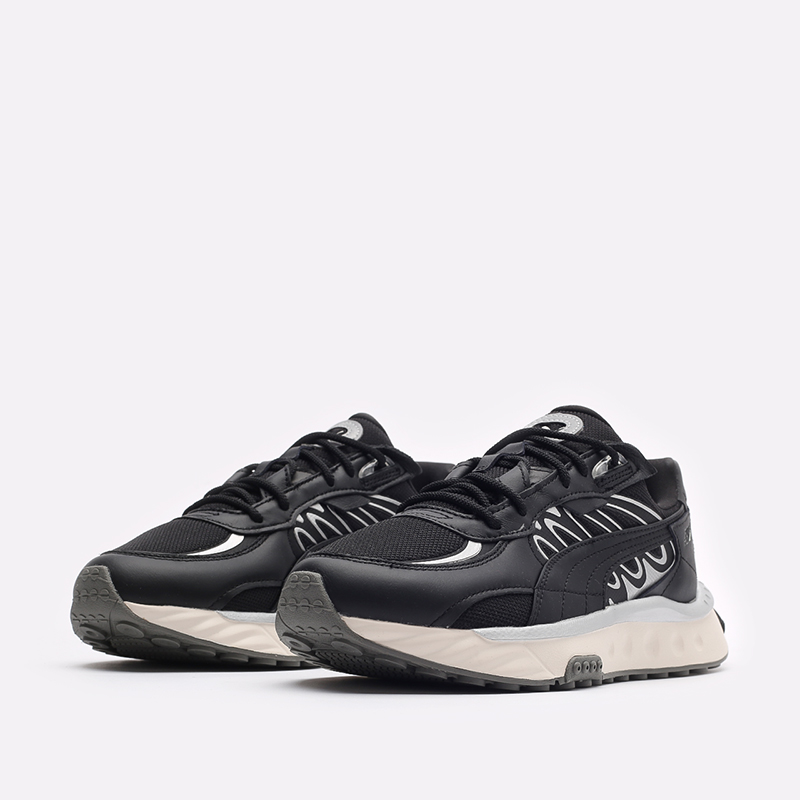 мужские черные кроссовки PUMA Wild Rider Tecno 38159602 - цена, описание, фото 4