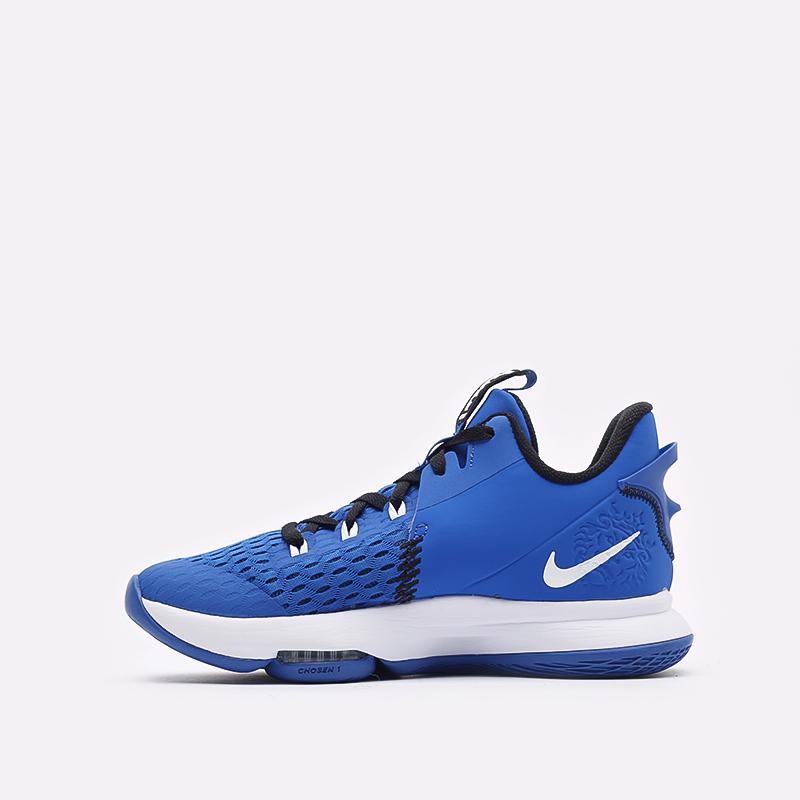 мужские синие баскетбольные кроссовки Nike Lebron Witness V CQ9380-400 - цена, описание, фото 2