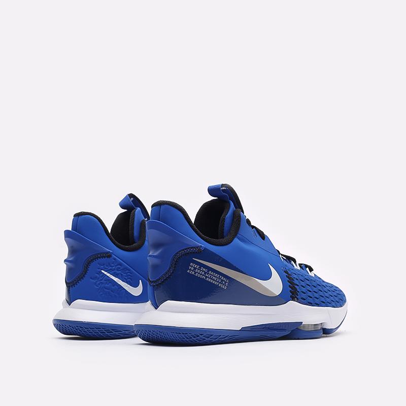 мужские синие баскетбольные кроссовки Nike Lebron Witness V CQ9380-400 - цена, описание, фото 3