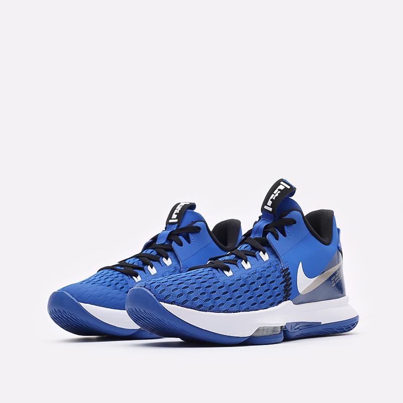 мужские синие баскетбольные кроссовки Nike Lebron Witness V CQ9380-400 - цена, описание, фото 4