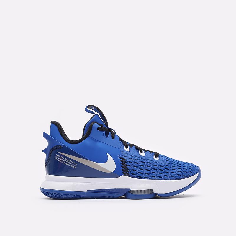мужские синие баскетбольные кроссовки Nike Lebron Witness V CQ9380-400 - цена, описание, фото 1