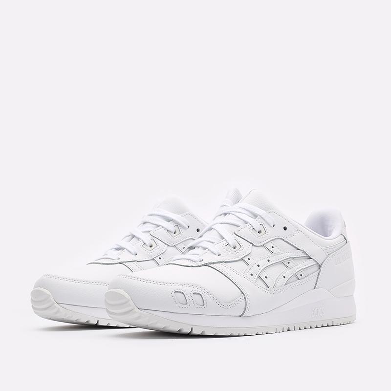 мужские белые кроссовки ASICS Gel-Lyte III OG 1201A257-100 - цена, описание, фото 4