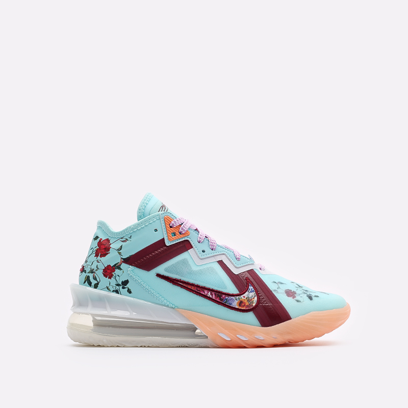 мужские голубые баскетбольные кроссовки Nike Lebron XVIII Low CV7562-400 - цена, описание, фото 1