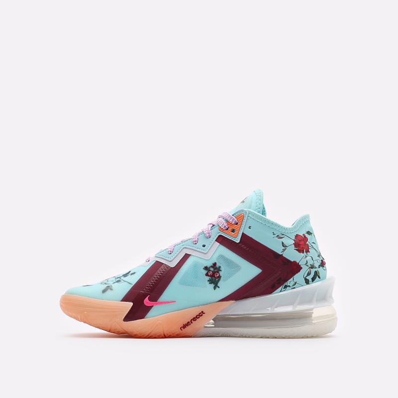 мужские голубые баскетбольные кроссовки Nike Lebron XVIII Low CV7562-400 - цена, описание, фото 2