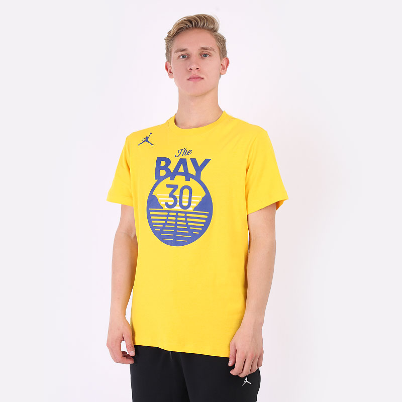 мужская желтая футболка Nike Golden State Warriors Essential Statement Edition Tee CV9978-731 - цена, описание, фото 1