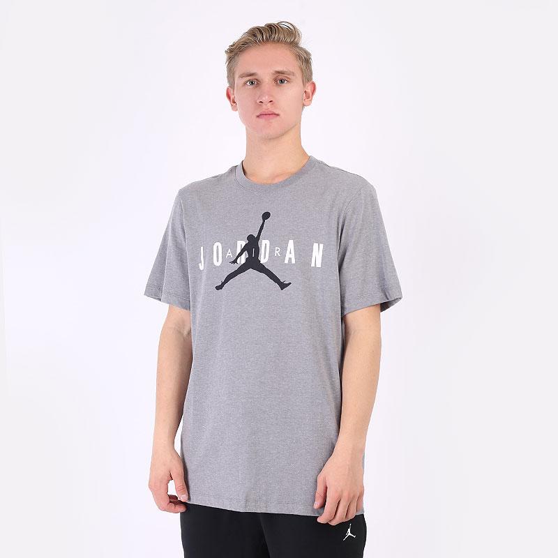мужская серая футболка Jordan Air Wordmark Tee CK4212-092 - цена, описание, фото 1