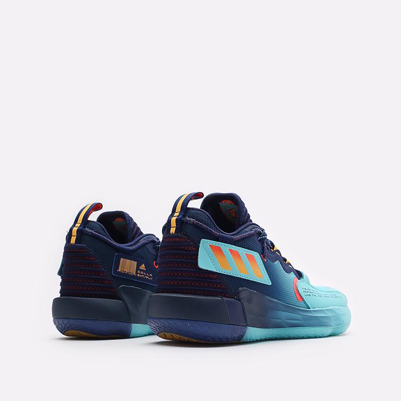 синие баскетбольные кроссовки adidas Dame 7 EXTPLY H68606 - цена, описание, фото 3