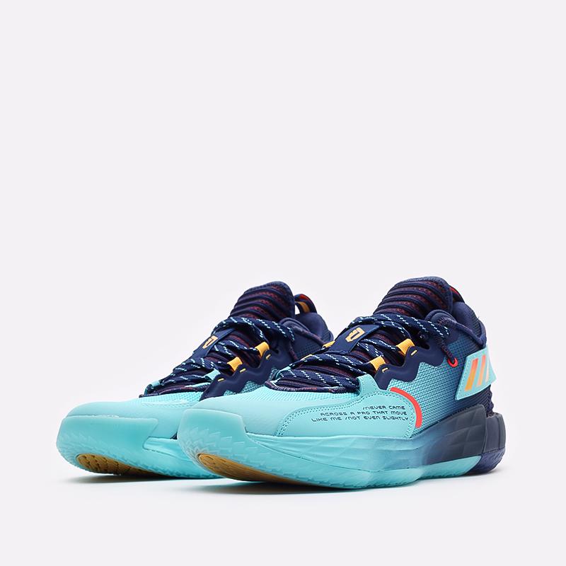 синие баскетбольные кроссовки adidas Dame 7 EXTPLY H68606 - цена, описание, фото 4