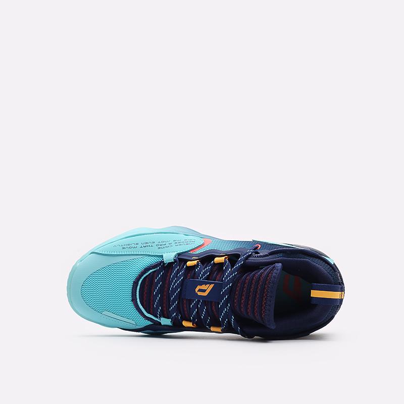 синие баскетбольные кроссовки adidas Dame 7 EXTPLY H68606 - цена, описание, фото 6