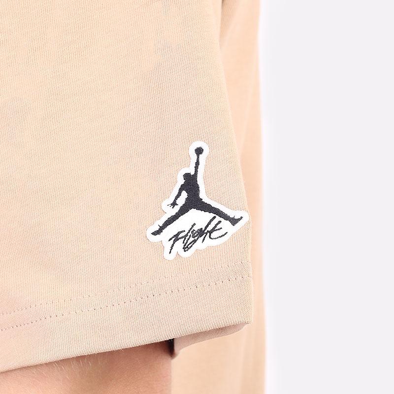 мужская бежевая футболка Jordan Flight Essentials AJ 85 Graphic Crew DA9889-245 - цена, описание, фото 4