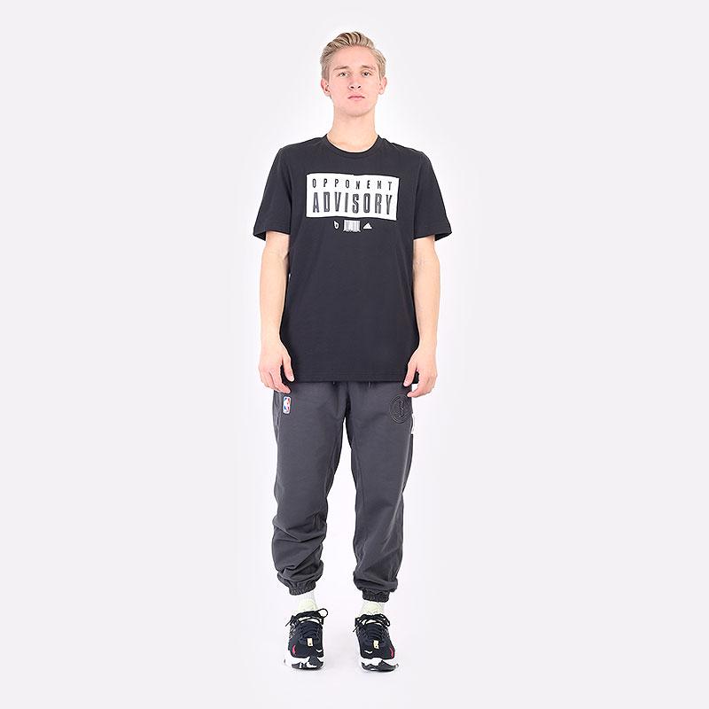 мужская черная футболка adidas DAME EXTPLY OPPONENT ADVISORY GR9926 - цена, описание, фото 5