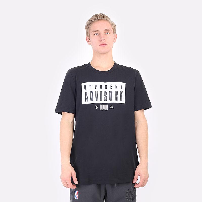 мужская черная футболка adidas DAME EXTPLY OPPONENT ADVISORY GR9926 - цена, описание, фото 3