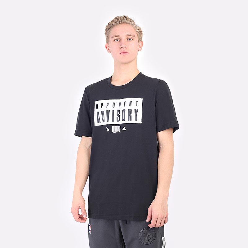 мужская черная футболка adidas DAME EXTPLY OPPONENT ADVISORY GR9926 - цена, описание, фото 1
